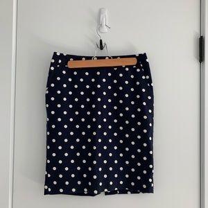 Target Merona Navy Polka Dot Pencil Skirt Sz. 2